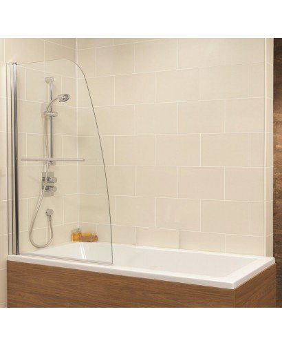 Duo Straight Single Ended 1600x700mm Bath and Shower Screen with 6mm glass - Single Panel