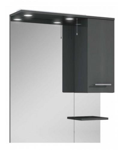 Blanco Gloss Grey 80 Mirror with LED Light & Pullcord