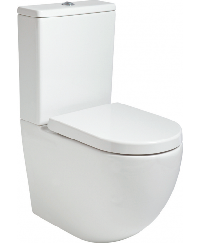 Tara Fully Shrouded RIMLESS Toilet and Soft Close Seat