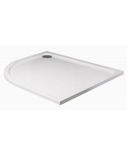 Slimline 1000 x 800 Offset Quadrant Shower Tray LH