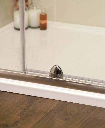 Kyra range 1200 pivot inline shower enclosure for 1200 pivot shower door