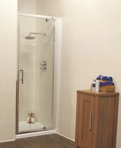 Kyra Range 700mm Pivot Shower Door - Adjustment 640-700mm