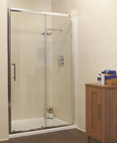 Kyra range 1000mm sliding shower enclosure for 1300 mm sliding shower door