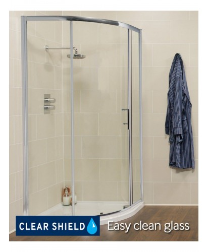 Kyra Range 900 mm x 900 mm Quadrant Single Door Shower Enclosure -Adjustment 855 - 880 mm