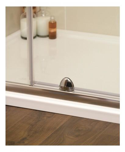 Kyra 1000 x 700mm pivot inline shower door for 1000 pivot shower door