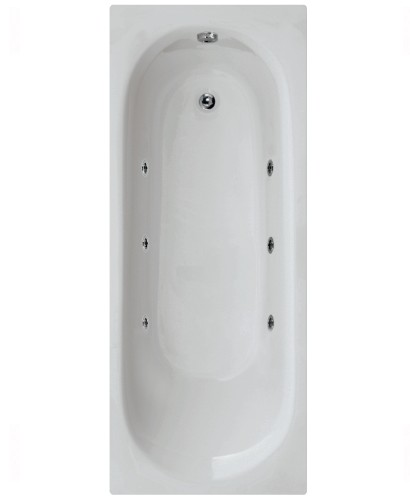 Leyton 1700 x 700 Single Ended 6 Jet Whirlpool Bath