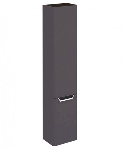 Metz Anthracite 35 cm Wall Column - Left Hand Hinge