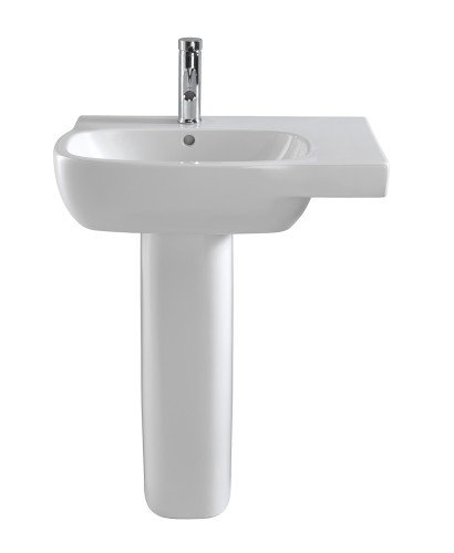 Twyford Moda Basin 65cm with Shelf RH & Pedestal