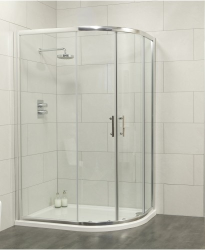 Cello 1000x800 Offset Quadrant Shower Enclosure -Adjustment 965-990mm + 765 - 790mm **REDUCED TO CLEAR