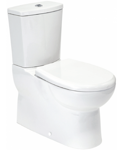 Ocean Multi Outlet Fully Shrouded Toilet with Soft Close Seat