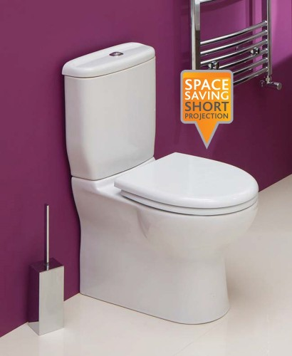 Oscar Close Coupled Toilet Soft Close Seat Short Projection