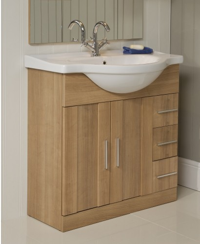 Cordoba Oak 85cm Vanity Unit & Basin