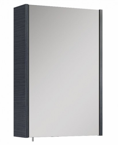 Soho Plus 42 cm Grey Single Glass Mirror Cabinet
