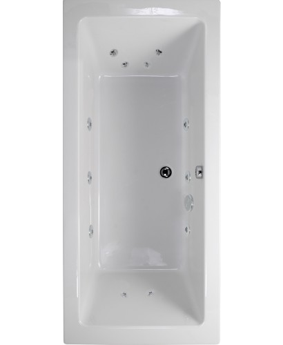 Duo 1800x900 Double Ended 12 Jet Whirlpool Bath - Extra Deep