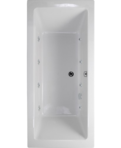 Duo 1700x700 Double Ended 8 Jet Whirlpool Bath - Extra Deep