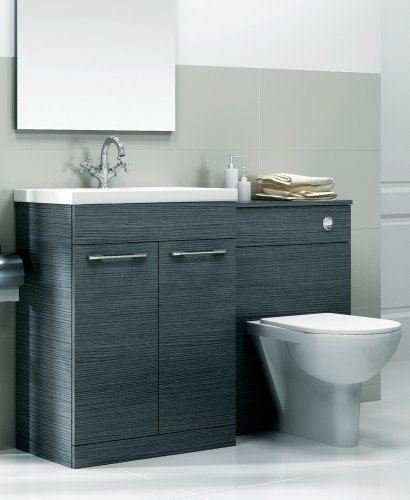 Paola Grey Slimline 60cm Combination Unit - 2 Door - 1215mm - with Toilet