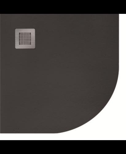 Slate 900 Quadrant  Shower Tray Black - With Free Shower Waste