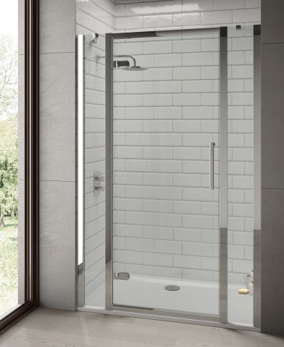 Rival 8mm 1500 Hinge Shower Door with Double Infill Panel - Adjustment 1440 - 1500 mm
