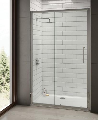 Rival 8mm 1400 Sliding Shower Door - Adjustment 1340-1400 mm