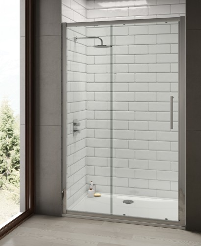 Rival 8mm 1600 Sliding Shower Door - Adjustment 1540-1600 mm
