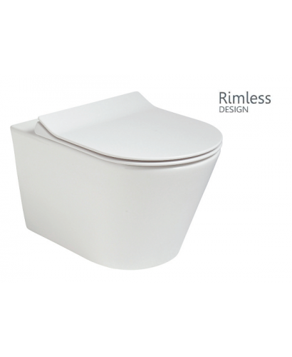 Roxy Wall Hung Rimless Toilet with Slim Seat