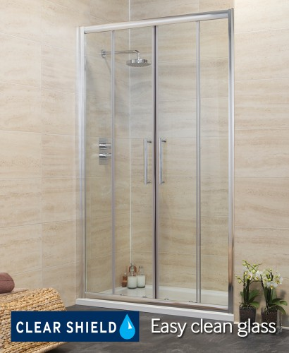 Rival 1600 Double Sliding Shower Door - Adjustment 1540-1600mm - REDUCED TO CLEAR