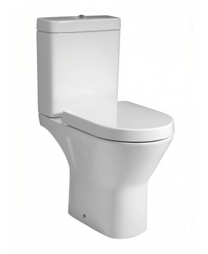Resort Comfort Height Close Coupled RIMLESS Toilet & Soft Close Seat