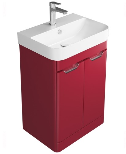Aquiana Red Floor Standing 57 Vanity Unit - 2 Door ** Further Reductions