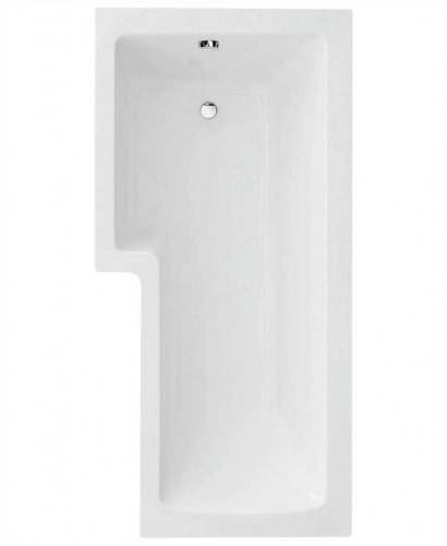 L Shape 1700 x 850 Left Hand Shower Bath with Bath Panel & Bath Screen