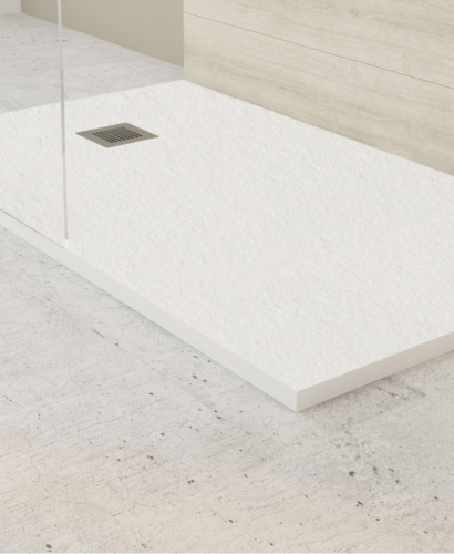 Slate 900 X 800 Shower Tray White - With Free Shower Waste