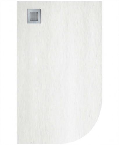 Slate 1000X800 Offset Quadrant Shower Tray LH White - Anti Slip