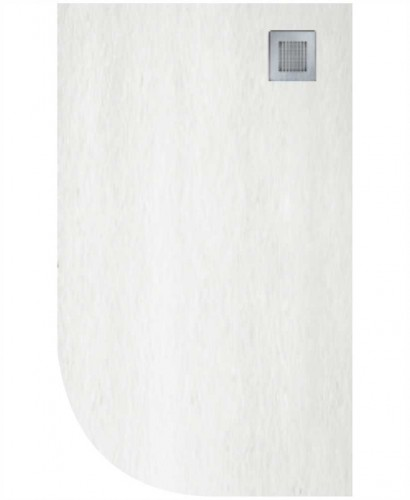 Slate 1200X800 Offset Quadrant Shower Tray RH White - Anti Slip