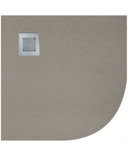 Slate 900 Quadrant  Shower Tray Taupe - With Free Shower Waste