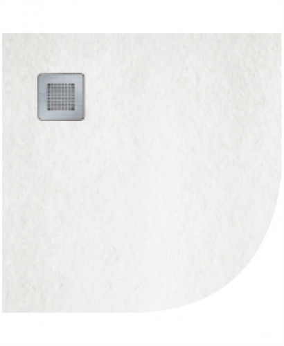 Slate 900 Quadrant  Shower Tray White - With Free Shower Waste