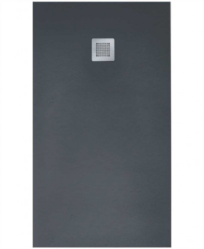 Slate 900 X 800 Shower Tray Anthracite - With Free Shower Waste