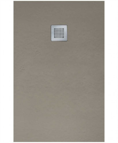 SLATE 1600 x 900 Taupe Shower Tray with FREE Shower Waste