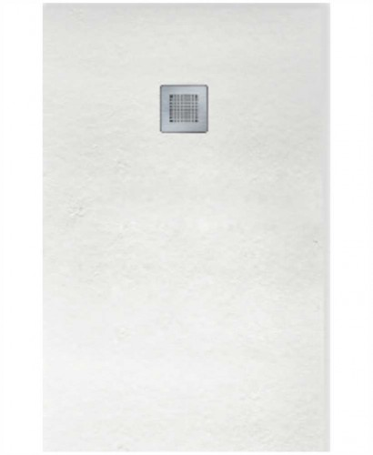 SLATE 1700 x 800 Shower Tray White - with FREE shower waste