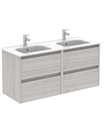 Sparta Sandy Grey 120cm Vanity Unit 4 Drawer & Slim Basin