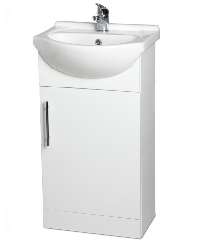 Blanco 45cm Vanity Unit, Basin and Tap