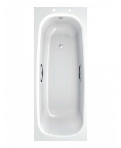 Stratum Single Ended 1500 x 700 Steel Bath - With Grips Only.
