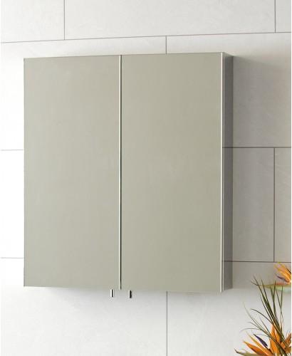 Steel Double Door Mirror Cabinet 600 x 670