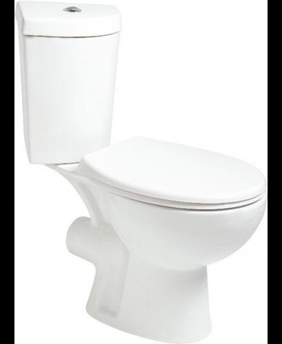 Slavia Close Coupled Corner Toilet and Soft Close Seat