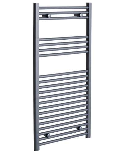 Straight 1200x500 Heated Towel Rail Anthracite