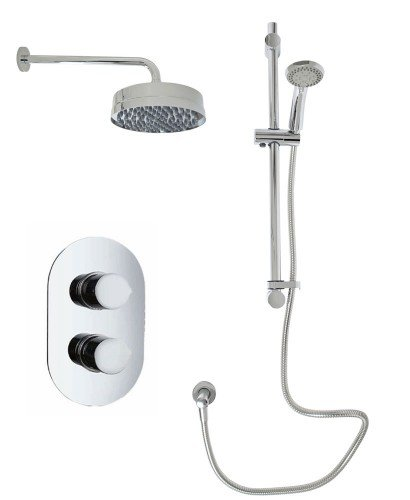 Jupiter Oval Thermostatic Shower Kit A