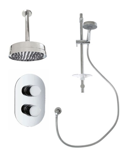 Jupiter Oval Thermostatic Shower Kit F