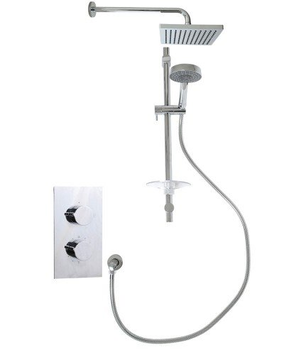 Jupiter Rectangle Thermostatic Shower Kit C