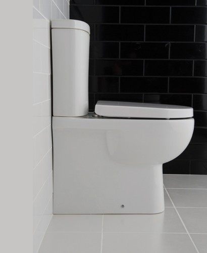 RAK Tonique Fully Shrouded Close Coupled Toilet & Soft Close Seat - Comfort Height - Projection 625mm ** FURTHER REDUCTIONS