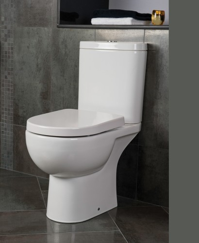 RAK Tonique Close Coupled Toilet & Soft Close Seat - Comfort Height - Projection 625mm ** FURTHER REDUCTIONS