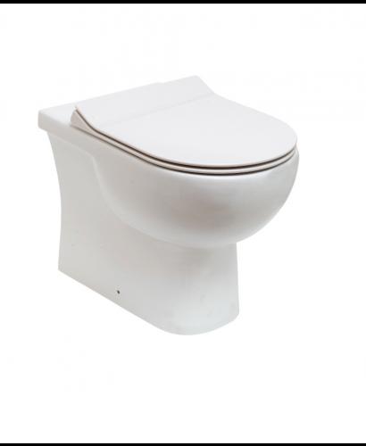 RAK Tonique Back to Wall Toilet & SLIM Soft Close Seat