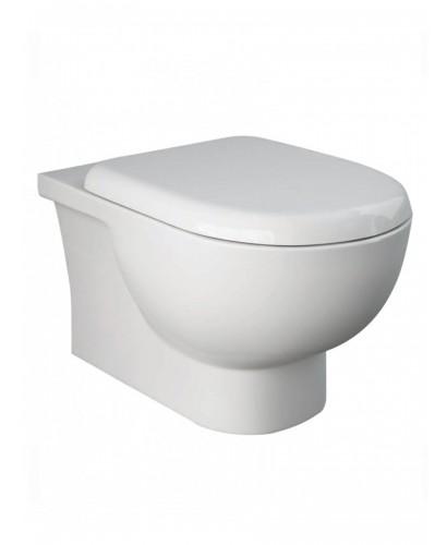 RAK Tonique Wall Hung RIMLESS Toilet & Soft Close Quick Release Seat